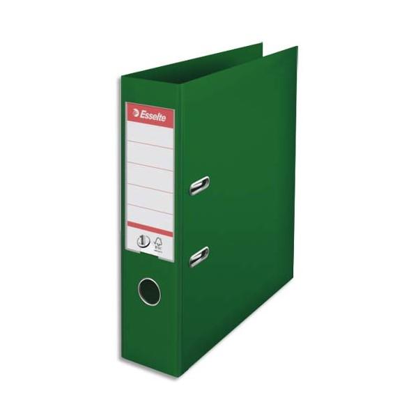 ESSELTE Classeur à levier N° 1 POWER en polypropylène, dos 75 mm, coloris vert