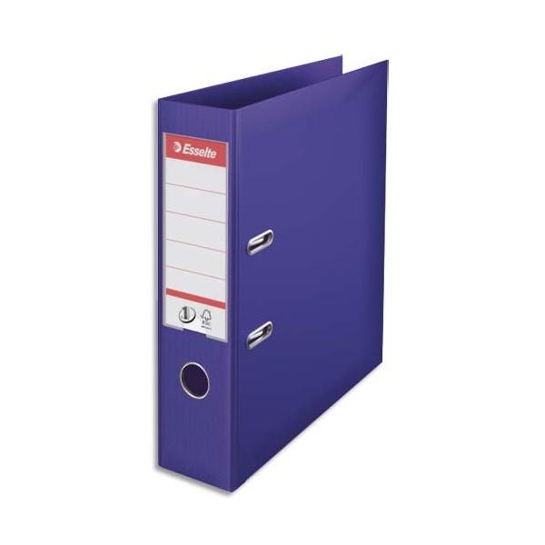 ESSELTE Classeur à levier N° 1 POWER en polypropylène, dos 75 mm, coloris violet