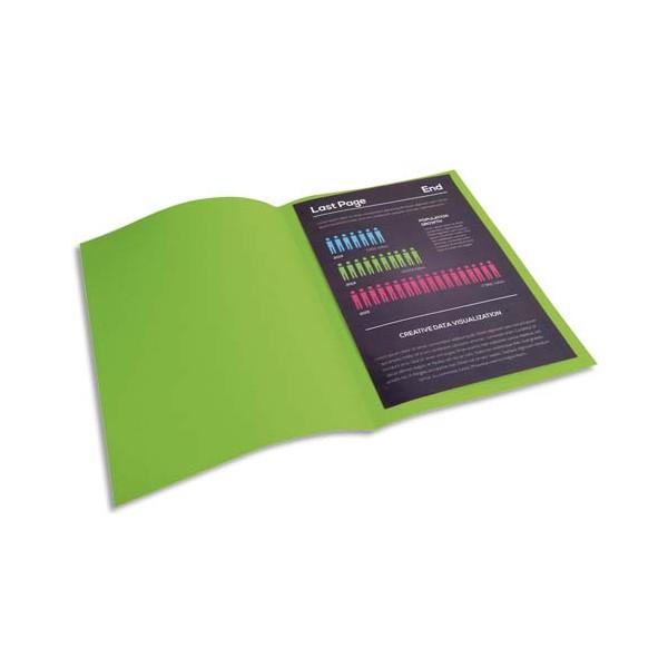 EXACOMPTA Paquet de 100 chemises Rock's en carte 210 g, coloris vert clair