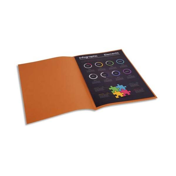 EXACOMPTA Paquet de 100 chemises Rock's en carte 210 g, coloris havane