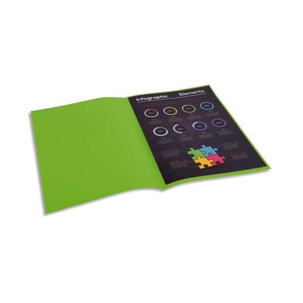 EXACOMPTA Paquet de 100 sous-chemises Rock's en carte 80 g, coloris vert clair
