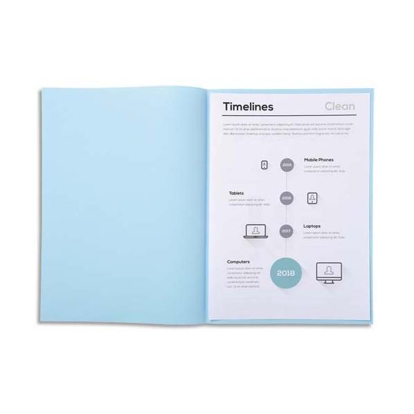 EXACOMPTA Paquet de 250 sous-chemises papier recyclé 60 g, coloris bleu
