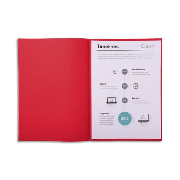 EXACOMPTA Paquet de 250 sous-chemises papier recyclé 60 g, coloris rouge