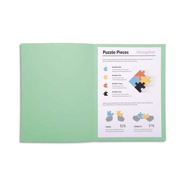 EXACOMPTA Paquet de 100 chemises Super 180 en carte 160g coloris vert clair