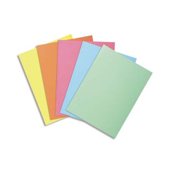 EXACOMPTA Paquet de 100 sous-chemises SUPER 60 en carte 60 g, coloris assortis pastels