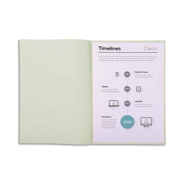 EXACOMPTA Paquet de 250 sous-chemises SUPER 60 en carte 60 g, coloris gris