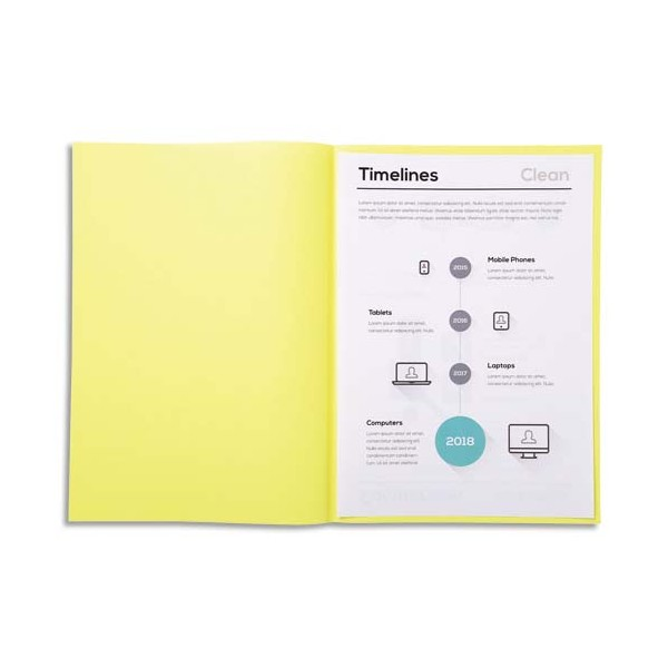 EXACOMPTA Paquet de 250 sous-chemises SUPER 60 en carte 60 g, coloris jaune canari