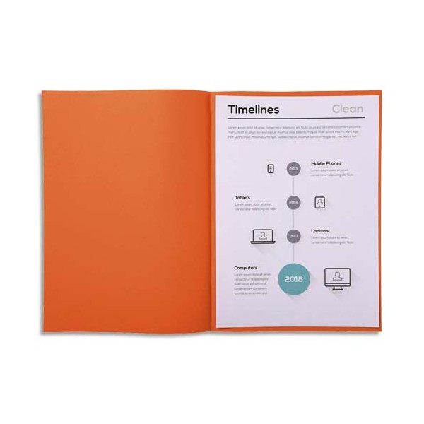 EXACOMPTA Paquet de 250 sous-chemises SUPER 60 en carte 60 g, coloris orange