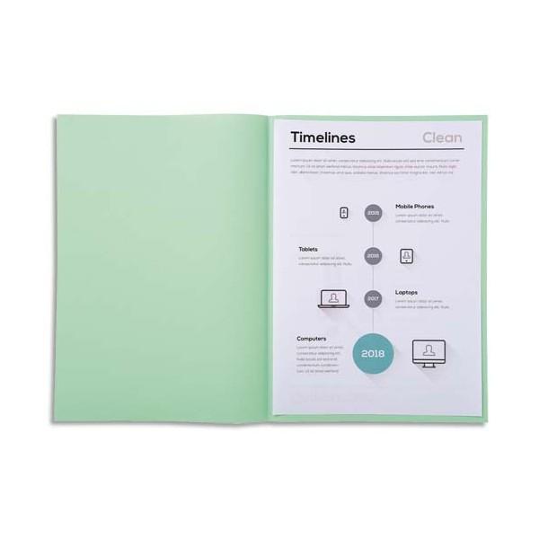 EXACOMPTA Paquet de 250 sous-chemises SUPER 60 en carte 60 g, coloris vert clair
