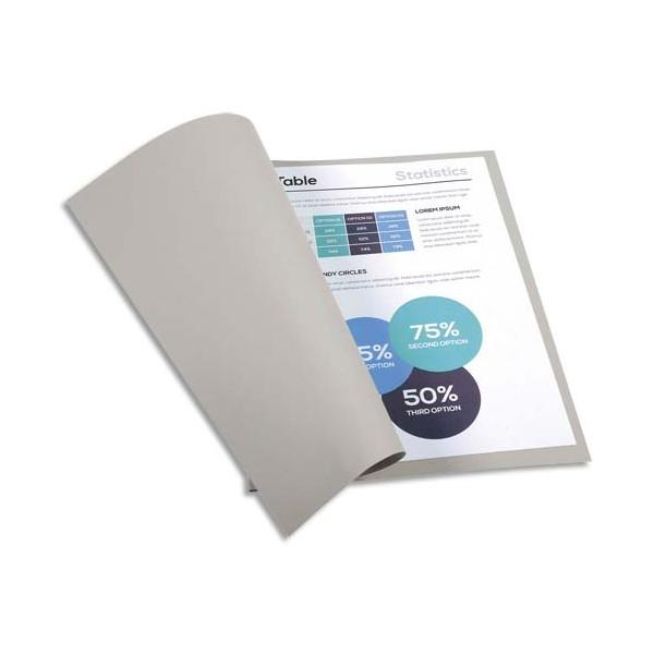 EXACOMPTA Paquet de 100 chemises FOREVER en carte recyclée 220g, coloris gris