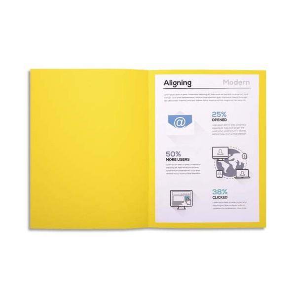 EXACOMPTA Paquet de 100 chemises FOREVER en carte recyclée 220g, coloris jaune