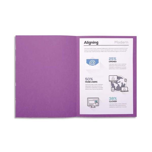 EXACOMPTA Paquet de 100 chemises FOREVER en carte recyclée 220g, coloris lilas