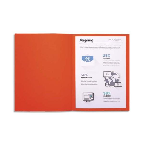 EXACOMPTA Paquet de 100 chemises FOREVER en carte recyclée 220g, coloris orange