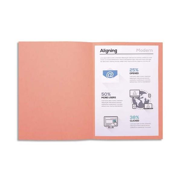 EXACOMPTA Paquet de 100 chemises FOREVER en carte recyclée 220g, coloris rose