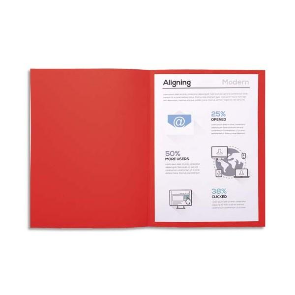 EXACOMPTA Paquet de 100 chemises FOREVER en carte recyclée 220g, coloris rouge