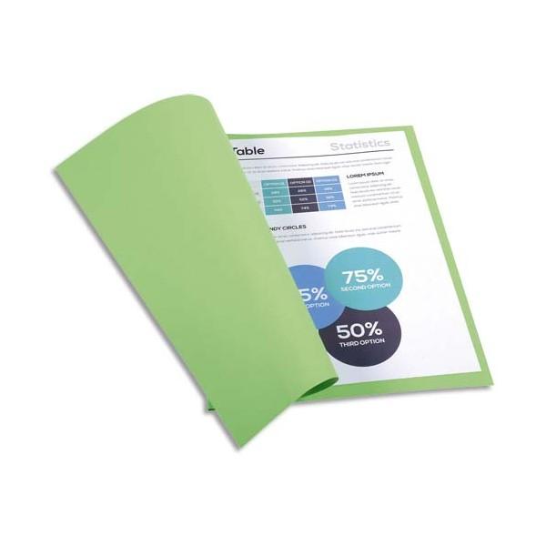 EXACOMPTA Paquet de 100 chemises FOREVER en carte recyclée 220g, coloris vert clair