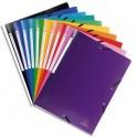 EXACOMPTA Chemise 3 rabats et élastique UNI en polypropylène 5/10e. Coloris assortis 10 couleurs