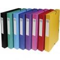 EXACOMPTA Boîtes de classement Exabox en carte lustrée 7/10e. Dos de 4 cm. Coloris assortis