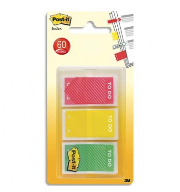 POST IT Set de 3 x 20 marque-pages Post-it® To Do - 2,38 x 4,32 cm