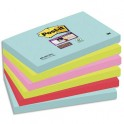 POST-IT Lot de 6 blocs notes Super Sticky Collection MIAMI 7,6 x 12,7 cm, 90 feuilles