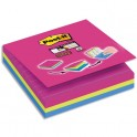 "POST IT 3 Cubes Super Sticky Post-it® ""Easy select"" Couleurs, 70 feuilles lignées, 101 x 101 mm"