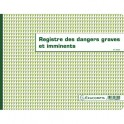 EXACOMPTA Registre dangers graves et imminents format 24 x 32 cm, piqûre 20 pages foliotées 6622E