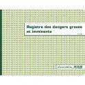 EXACOMPTA Registre dangers graves et imminents format 24 x 32 cm, piqûre 20 pages foliotées 6622E