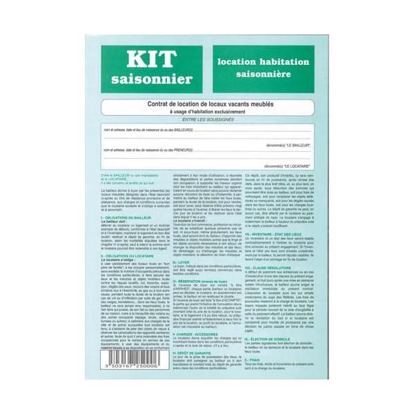 WEBER DIFFUSION Kit meublé saisonnier 725
