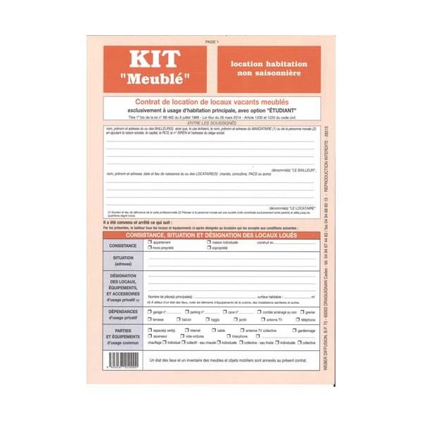 WEBER DIFFUSION Kit meublé non saisonnier 721