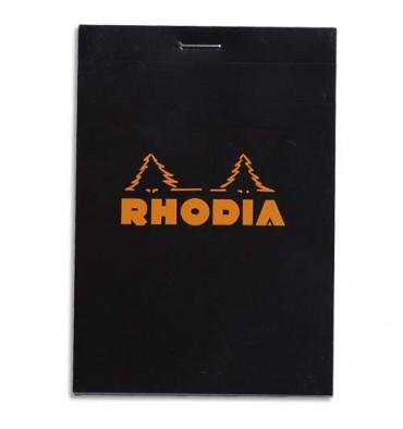 RODHIA Bloc de direction 160 pages n°12 8,5x12cm 5x5. Couverture noire