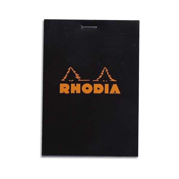 RODHIA Bloc de direction 160 pages n°12 - 8,5 x 12 cm 5x5. Couverture noire