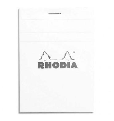 RODHIA Bloc de direction 160 pages n°12 format 8,5 x 12 cm - 5x5. Couverture blanche