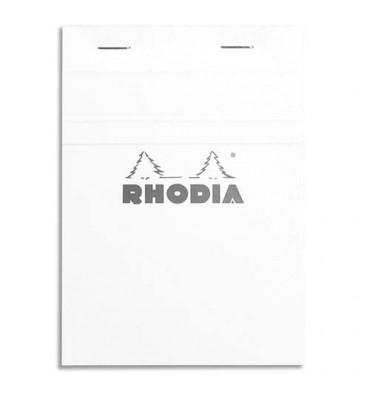 RHODIA Bloc de direction couverture blanche 80 feuilles (160 pages) format A6 réglure 5x5