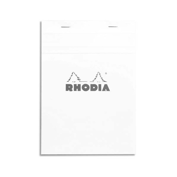 RODHIA Bloc de direction 160 pages n°16 format 14,8 x 21 cm - 5x5. Couverture blanche