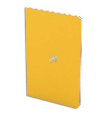 OXFORD Carnet POCKET NOTES agrafé 9 x 14 cm 48 pages ligné 6 mm. Couverture carte bi-colore jaune