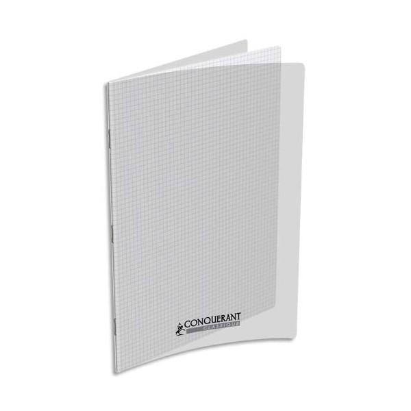 CONQUERANT Cahier 24 x 32 cm, 48 pages, 90g, 5x5, couverture polypro incolore