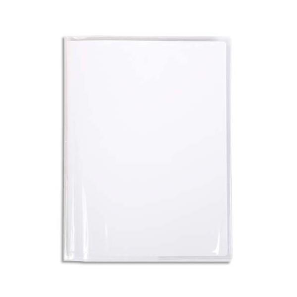 CALLIGRAPHE Protège-cahier PVC cristalux 22/100ème avec porte-étiquette 17 x 22 cm incolore (photo)