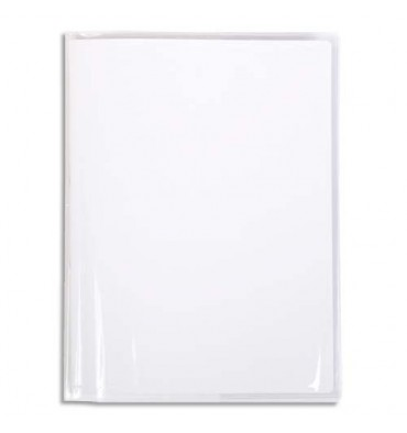 CALLIGRAPHE Protège-cahier PVC cristalux 22/100ème avec porte-étiquette 21 x 29,7 cm incolore