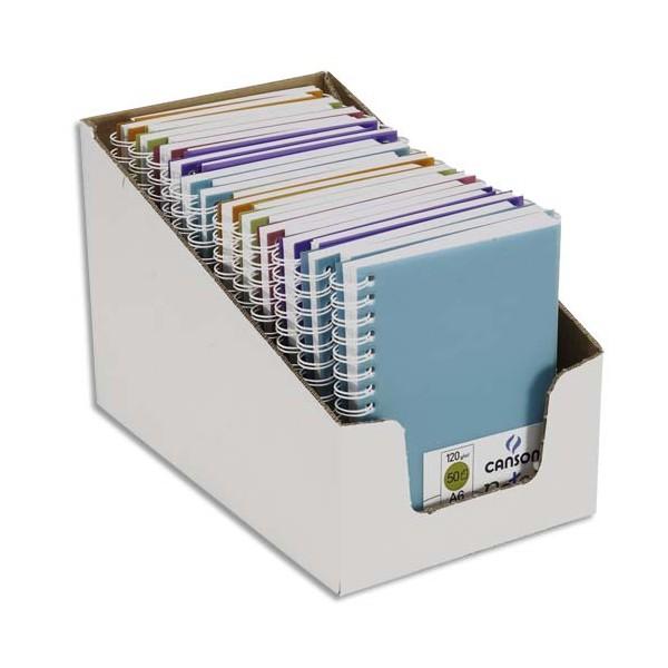 CANSON Carnet de notes 100 pages 120g A6 5 couleurs. Couverture en polypropylène assortie