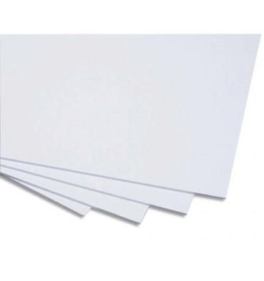 CLAIREFONTAINE Carton blanc et bristol carton contrecollé 1 face 50 x 65 cm médium 600g