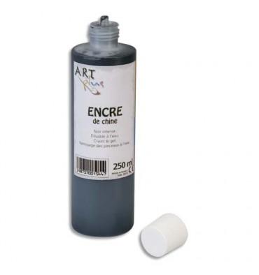 ART PLUS Encre de chine de couleur noire 250 ml