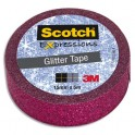 SCOTCH Ruban Expressions Tape 15 mm x 10 m Pailleté Rose