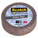SCOTCH Ruban Expressions Glitter Tape Pailleté Multicolore de 15 mm x 5 m
