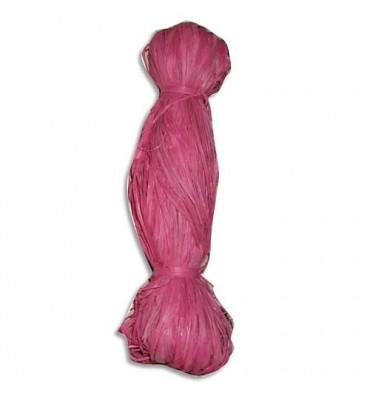 PW INTERNATIONAL Bobine de 50g de raphia végétal Rose Tyrien, longueur non standardisée de 1 à 1,20m