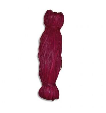 PW INTERNATIONAL Bobine de 50g de raphia végétal coloris Rouge, longueur non standardisée de 1 à 1,20 m