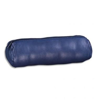 ELBA Fourre-tout rond unicolore 22 x D 6 cm - Coloris bleu encre