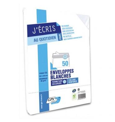 GPV Paquet de 50 enveloppes blanches auto-adhésives 80g format C5 162 x 229 mm