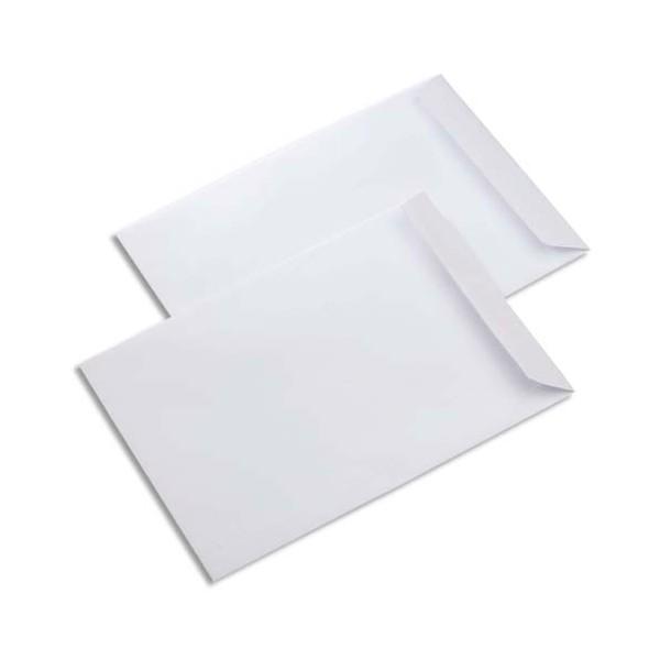 PERGAMY Boîte de 500 pochettes vélin blanc 90g C5 162 x 229 mm fermeture auto-adhésive