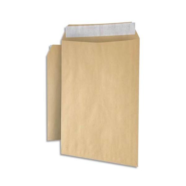 NEUTRE Paquet de 125 pochettes C4 90g kraft recyclé auto-adhésives