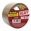 SCOTCH Ruban d'emballage Heavy 57 microns havane, format 50 mm x 50 m